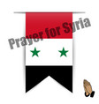 flag of hanging prayer for syria vector image
