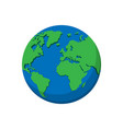 flat planet earth icon isolated on white