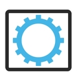 Gear Framed Icon vector image