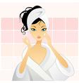 girl in bathroom vector image vector image