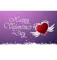 happy valentines day background cute greeting card vector image