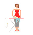 homemaker is ironing vector image vector image