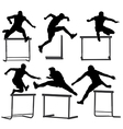 Hurdler Silhouette vector image vector image