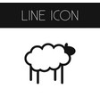 isolated sheep outline lamb element can be vector image