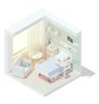isometric cozy hospital room vector image