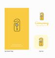 key tag company logo app icon and splash page vector image