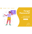 landing page forgot password concept vector image