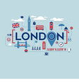 London icons and typography design vector image vector image