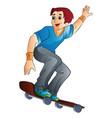 man on a skateboard vector image vector image