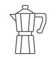 moka pot thin line icon coffee and cafe vector image vector image