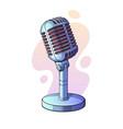 monochrome retro microphone for voice music vector image