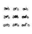 motorbike silhouette icons set vector image vector image