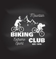 mountain biking club vector image vector image