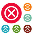 no sign icons circle set vector image