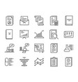 report icon set vector image vector image