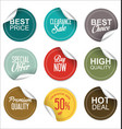 sale price tag collection vector image vector image