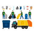 scavengery trash and garbage colored icons trash vector image