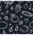 seamless pattern with accessories sketch icon set vector image vector image