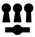 set keyholes silhouette icon vector image vector image