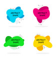 set modern abstract banners liquid color vector image vector image