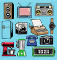 set object retro home electronic vector image
