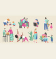 set on theme motherhood vector image