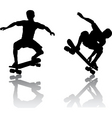 skateboarders vector image vector image