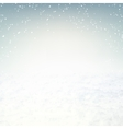 Snow environment vector image vector image