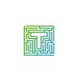 t maze letter logo icon design vector image vector image