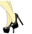 The legs of women vector image vector image