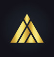 triangle construction abstract shape gold logo vector image vector image