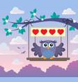 valentine owl topic image 8 vector image