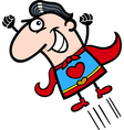 valentine superhero man cartoon vector image vector image