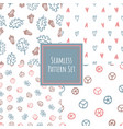 vintage color seamless pattern collection vector image vector image