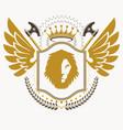 vintage heraldry design template emblem vector image vector image