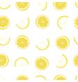 White and yellow lemon textile print seamless vector image