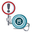 with sign digixdao coin character cartoon vector image vector image
