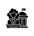women in government black glyph icon vector image