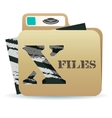 X files folder icon vector image vector image