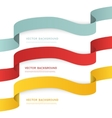Set of color ribbons isolated on white vector image