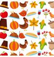 thanksgiving celebration holiday festive seamless vector image