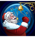 The ringing Santa Claus vector image
