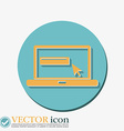 laptop with symbol web arrow vector image