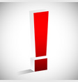 3d red exclamation mark eps 10 vector image vector image