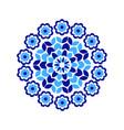 a decorative circular composition with folk vector image vector image