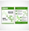 abstract green color flyer design template vector image