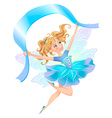 airy in flight with a blue ribbon vector image vector image