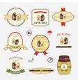 Avocado set of label design vector image