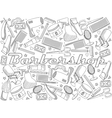 Barbershop coloring book vector image