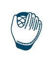 baseball glove icon in doodle style isolated on vector image